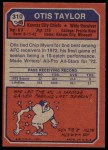 1973 Topps #310  Otis Taylor  Back Thumbnail
