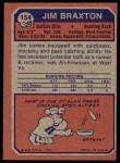 1973 Topps #154  Jim Braxton  Back Thumbnail