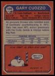 1973 Topps #156  Gary Cuozzo  Back Thumbnail