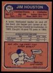 1973 Topps #163  Jim Houston  Back Thumbnail