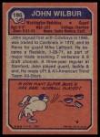 1973 Topps #196  John Wilbur  Back Thumbnail