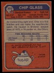 1973 Topps #203  Chip Glass  Back Thumbnail
