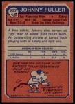 1973 Topps #207  Johnny Fuller  Back Thumbnail