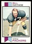 1973 Topps #208  Bill Hayhoe  Front Thumbnail