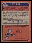 1973 Topps #209  Ed Bell  Back Thumbnail