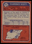 1973 Topps #221  Clarence Scott  Back Thumbnail