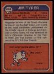 1973 Topps #233  Jim Tyrer  Back Thumbnail