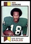 1973 Topps #257  Ben Hawkins  Front Thumbnail