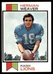 1973 Topps #279  Herman Weaver  Front Thumbnail