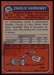 1973 Topps #282  Charlie Harraway  Back Thumbnail