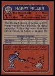 1973 Topps #304  Happy Feller  Back Thumbnail