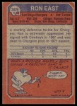 1973 Topps #309  Ron East  Back Thumbnail