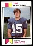 1973 Topps #319  Tom Blanchard  Front Thumbnail