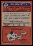 1973 Topps #163  Jim Houston  Back Thumbnail