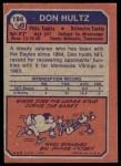 1973 Topps #194  Don Hultz  Back Thumbnail