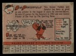 1958 Topps #344  Bob Porterfield  Back Thumbnail