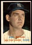 1957 Topps #175  Don Larsen  Front Thumbnail