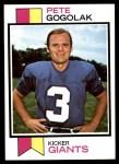 1973 Topps #368  Pete Gogolak  Front Thumbnail