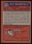 1973 Topps #382  Ray Mansfield  Back Thumbnail