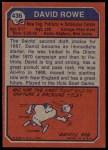 1973 Topps #436  Dave Rowe  Back Thumbnail