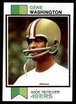 1973 Topps #460  Gene Washington   Front Thumbnail