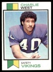 1973 Topps #328  Charlie West  Front Thumbnail