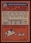 1973 Topps #354  Ken Burrough  Back Thumbnail