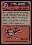 1973 Topps #361  Paul Smith  Back Thumbnail