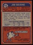 1973 Topps #439  Jim Beirne  Back Thumbnail