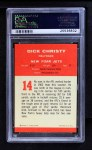 1963 Fleer #14  Dick Christy  Back Thumbnail