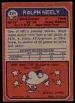 1973 Topps #321  Ralph Neely  Back Thumbnail