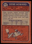 1973 Topps #324  Gene Howard  Back Thumbnail