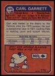 1973 Topps #326  Carl Garrett  Back Thumbnail