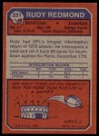 1973 Topps #331  Rudy Redmond  Back Thumbnail