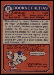 1973 Topps #351  Rockne Freitas  Back Thumbnail