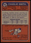 1973 Topps #363  Charlie Smith   Back Thumbnail