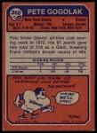 1973 Topps #368  Pete Gogolak  Back Thumbnail