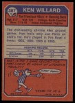 1973 Topps #387  Ken Willard  Back Thumbnail