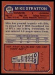 1973 Topps #388  Mike Stratton  Back Thumbnail