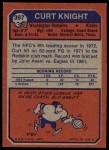 1973 Topps #397  Curt Knight  Back Thumbnail