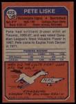 1973 Topps #422  Pete Liske  Back Thumbnail
