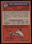 1973 Topps #430  Ted Hendricks  Back Thumbnail