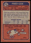 1973 Topps #433  Fred Cox  Back Thumbnail