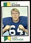 1973 Topps #452  Milt Sunde  Front Thumbnail