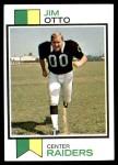 1973 Topps #461  Jim Otto  Front Thumbnail