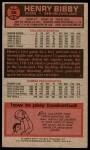 1976 Topps #36  Henry Bibby  Back Thumbnail
