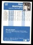 1984 Fleer #131  Don Mattingly  Back Thumbnail