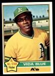 1976 Topps #140  Vida Blue  Front Thumbnail