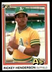 1981 Donruss #119   Rickey Henderson Front Thumbnail