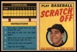 1970 Topps Scratch Offs #12  Juan Marichal  Front Thumbnail